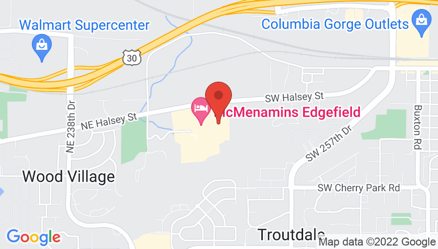 Map for McMenamins Edgefield