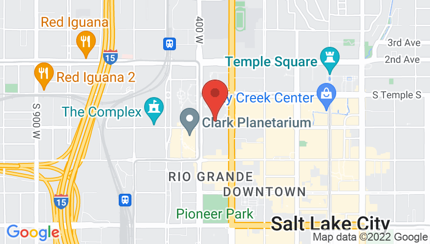 Map for Vivint Smart Home Arena