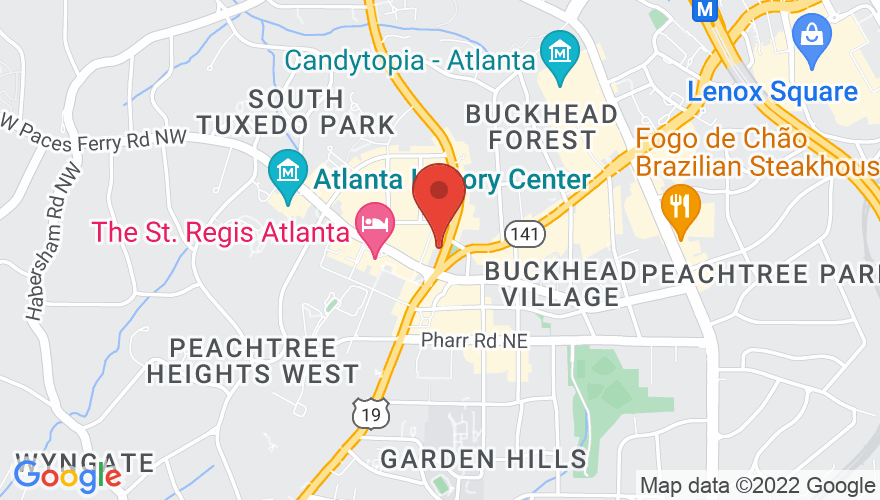 Map for Buckhead Theatre