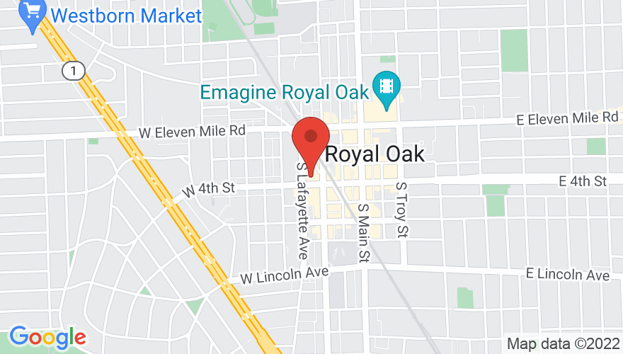 Map for Royal Oak Music Theatre