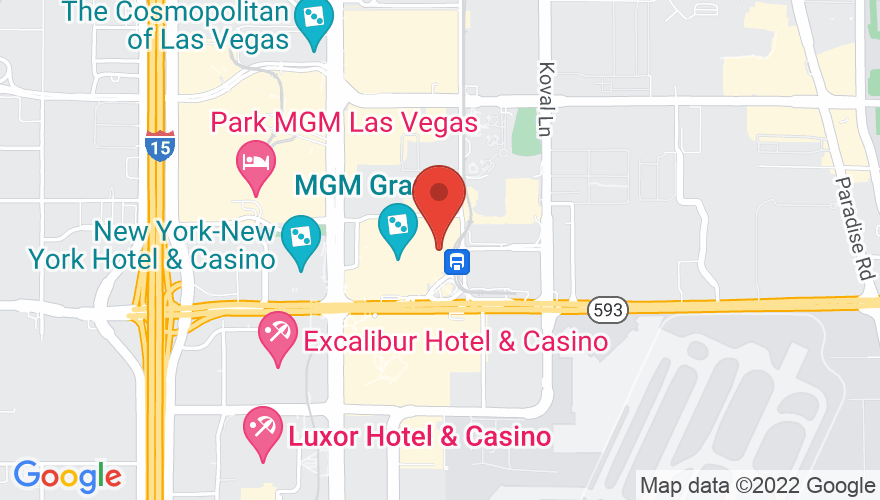 Map for MGM Grand Garden Arena