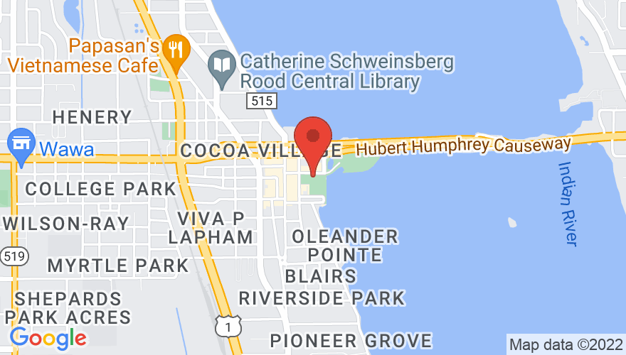 Map for Cocoa Riverfront Park
