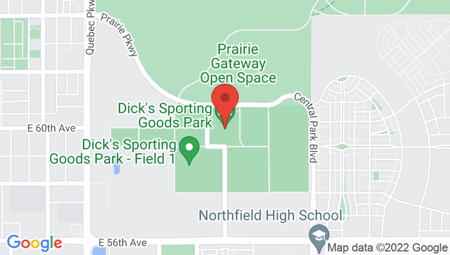 Map for Dick's Sporting Goods Park