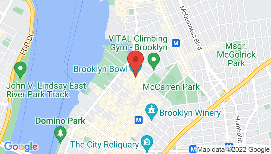 Map for Brooklyn Bowl