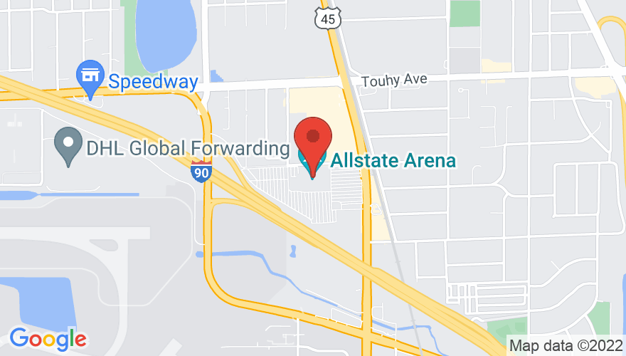 Map for Allstate Arena