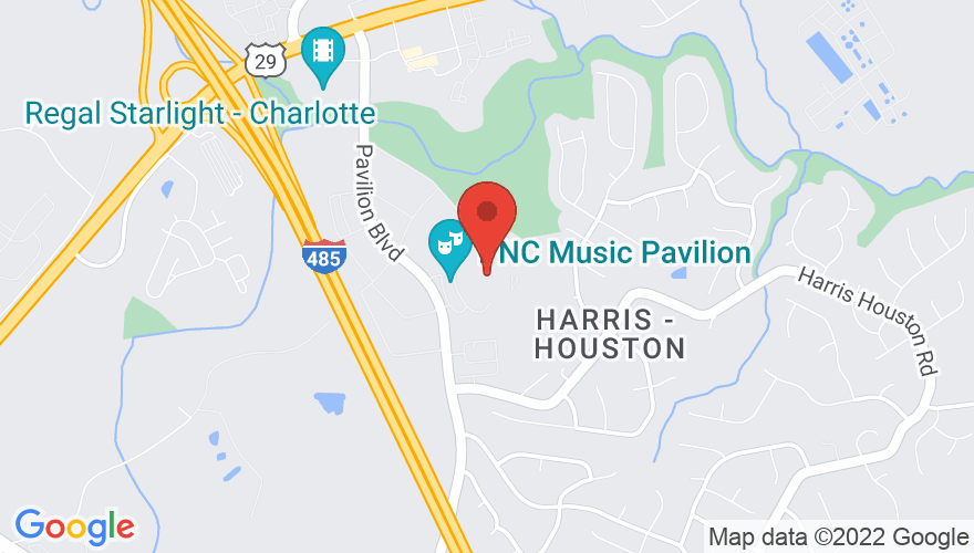 Map for PNC Music Pavilion