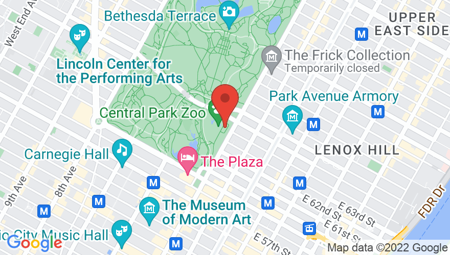 Map for Central Park SummerStage