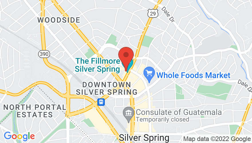 Map for The Fillmore Silver Spring