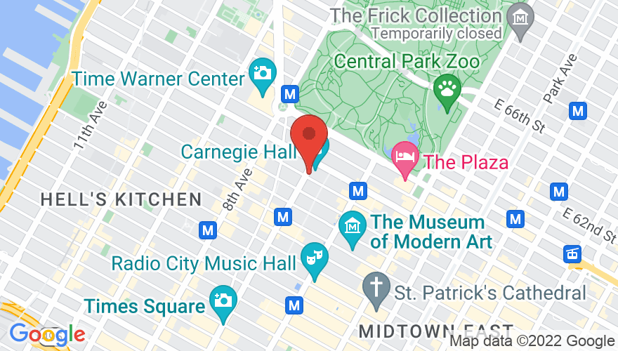Map for Isaac Stern Auditorium @ Carnegie Hall
