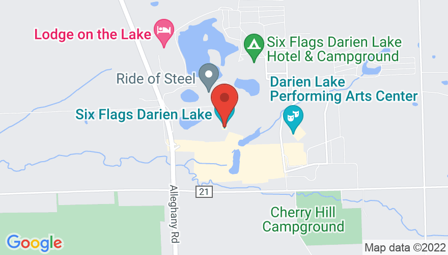 Map for Darien Lake Performing Arts Center