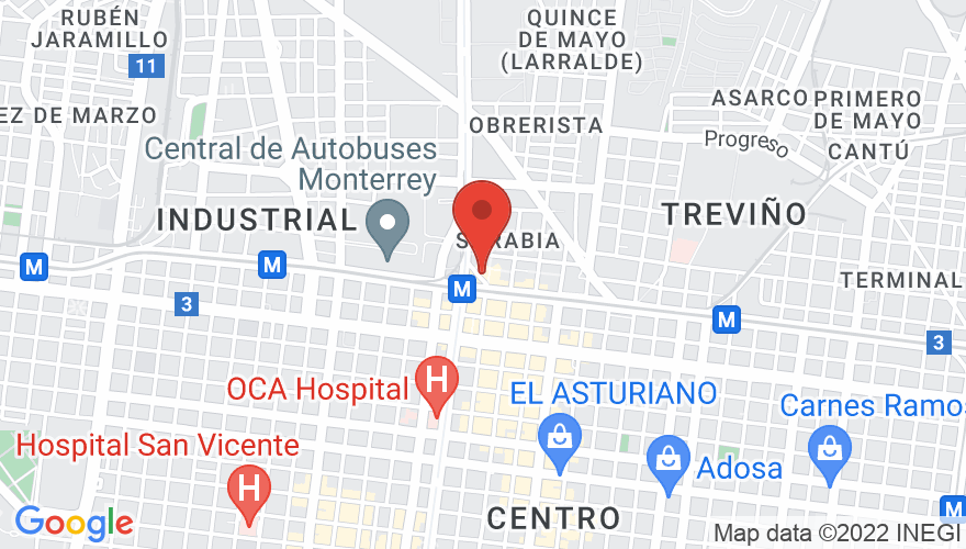 Map for Arena Monterrey