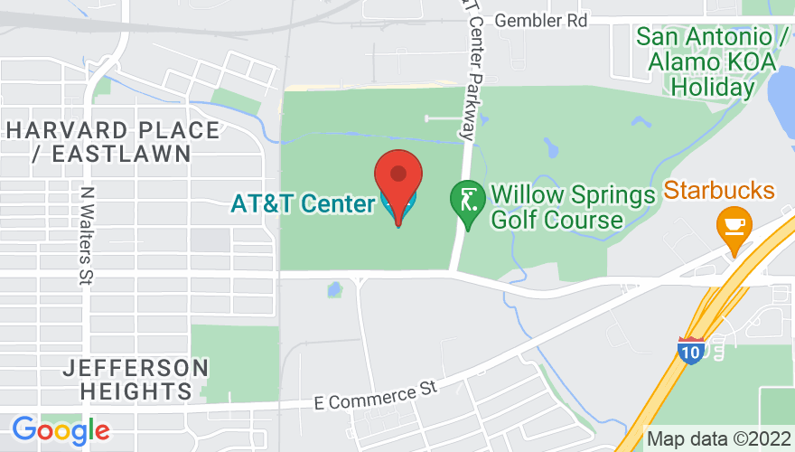 Map for AT&T Center