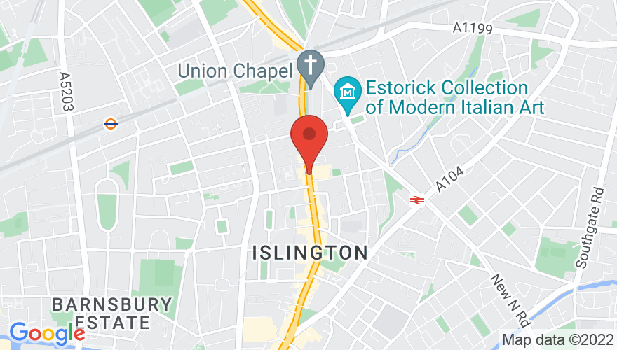 Map for Islington Assembly Hall