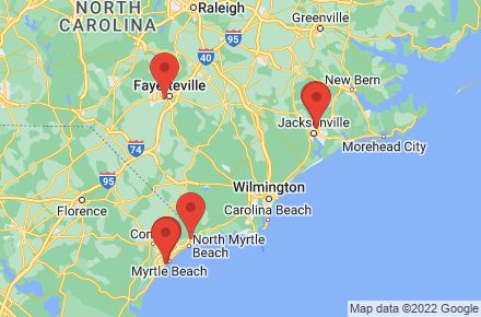 How Far Is Fayetteville Nc From Myrtle Beach Sc