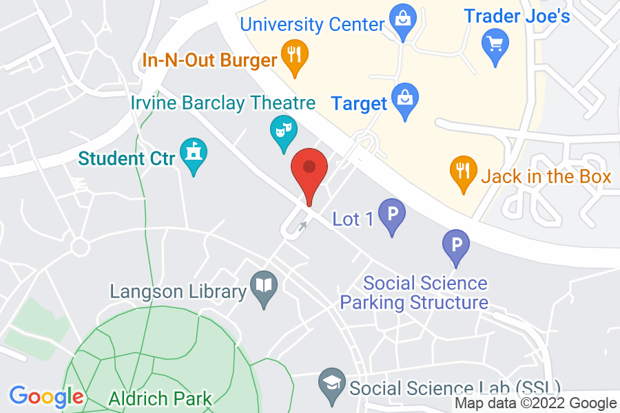 Map to UCI Aldrich Hall