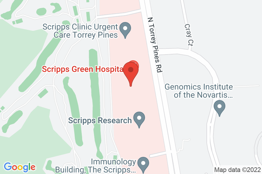 Map to Scripps Green Hospital Copley Board Room, 4th Floor Administration