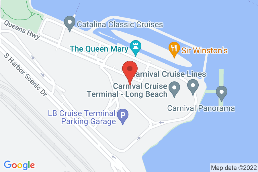 Map to The Queen Mary