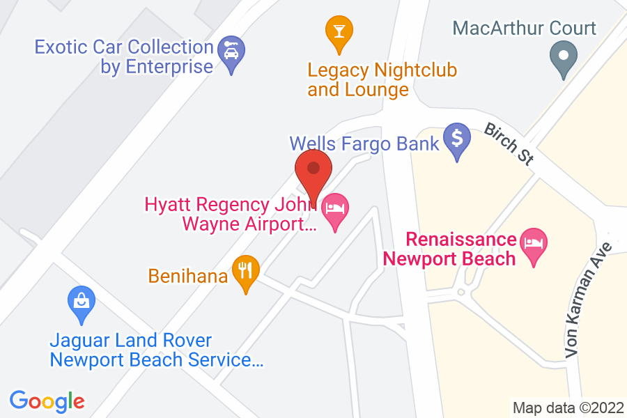 Map to  Hyatt Regency John Wayne Airport
