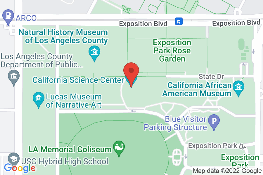 Map to California Science Center