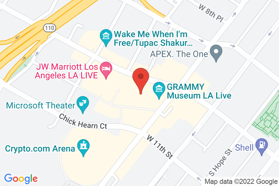 Map to The Grammy Museum