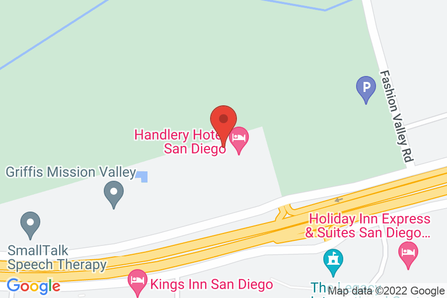 Map to The Handlery Hotel San Diego