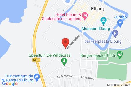 Kaart behorende bij: Termijnverlenging Westerwalstraat 30B, 8081 CC Elburg