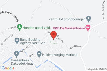 Kaart behorende bij: De Dijkjes kavel 226, Elburg, kadastraal bekend gemeente Elburg, sectie