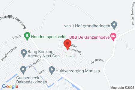 Kaart behorende bij: Buitenkruier 7 (kavel 224) te Elburg