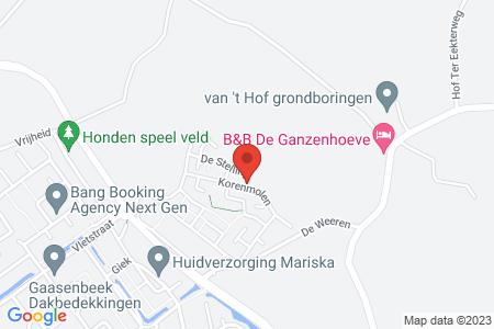 Kaart behorende bij: Korenwiel kavel 215, Elburg, kadastraal bekend gemeente Elburg, sectie E, nummer 693