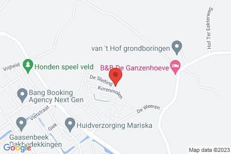 Kaart behorende bij: De Dijkjes kavel 220 en 221, Elburg, kadastraal bekend gemeente Elburg, sectie E, nummer 702