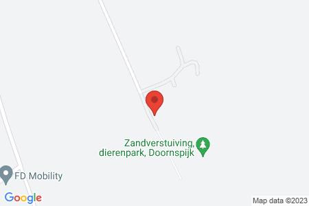 Kaart behorende bij: Berkenweg 13, 8085 RT Doornspijk