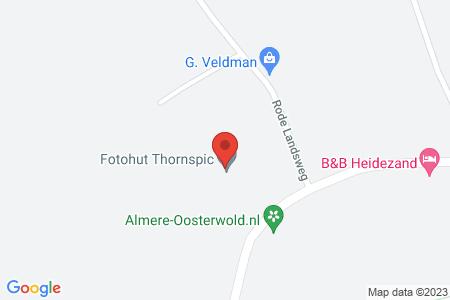 Kaart behorende bij: Bovenweg 80, 8085 SK Doornspijk