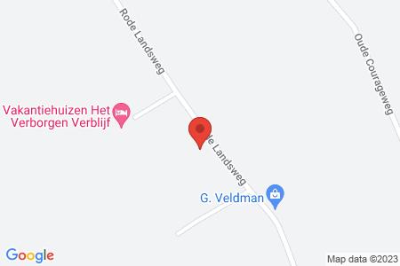 Kaart behorende bij: Rode Landsweg 24A, 8085 SM Doornspijk, kadastraal bekend gemeente Elburg, sectie D, nummer 5328 - Sloopmelding