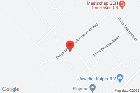 Kaart behorende bij: Burgemeester Ulco de Vriesweg 23, 8084 AR 't Harde