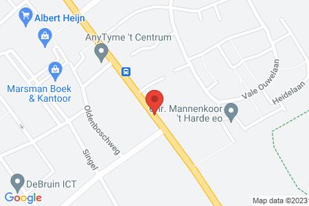 Kaart behorende bij: Eperweg in de omgeving van nummer 83, 't Harde, kadastraal bekend gemeente Doornspijk, sectie C, nummers 4278, 4279 en 4280