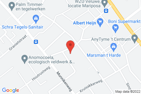Kaart behorende bij: Haverkampweg 1A, 8084 BP 't Harde