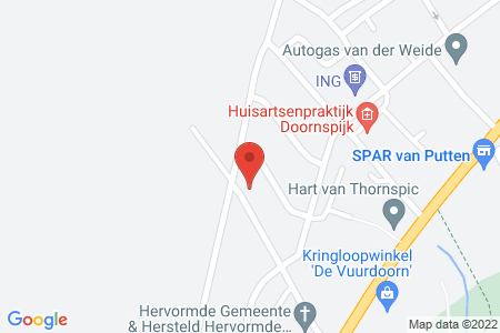 Kaart behorende bij: Wolter Vynckeweg 8 en 10, 8085 AR Doornspijk
