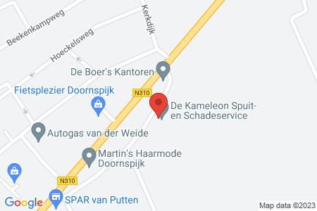 Kaart behorende bij: Oude Hogeweg 12, 8085 PA Doornspijk - Sloopmelding