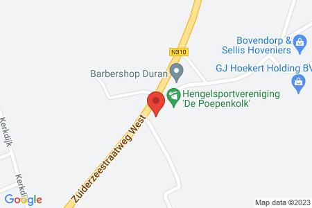 Kaart behorende bij: Zuiderzeestraatweg West 23, 8085 AA Doornspijk - Sloopmelding