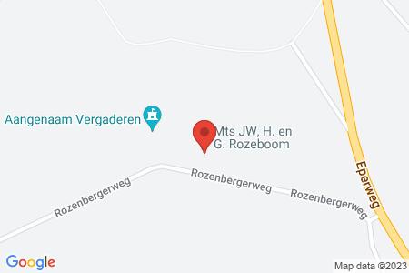 Kaart behorende bij: Termijnverlenging Rozenbergerweg 2, 8084 PG 't Harde