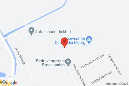 Kaart behorende bij: Termijnverlenging Broeklandstraat Elburg, kadastraal bekend gemeente Elburg, sectie E, nummers 365, 480 en 961