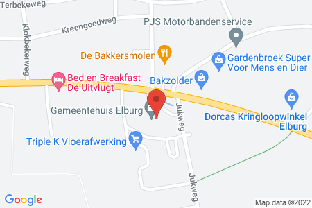 Kaart behorende bij: Verschillende kapvergunningen gemeente Elburg
