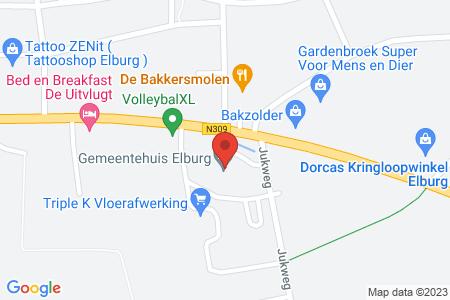 Kaart behorende bij: Diverse percelen in de gemeente Elburg