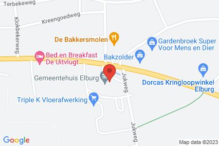Kaart behorende bij: Diverse locaties in gemeente Elburg - Kapvergunning