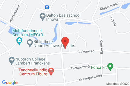Kaart behorende bij: Klokbekerweg 32, 8081 LG Elburg