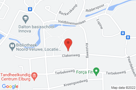 Kaart behorende bij: Clakenweg 112, 8081 LX Elburg