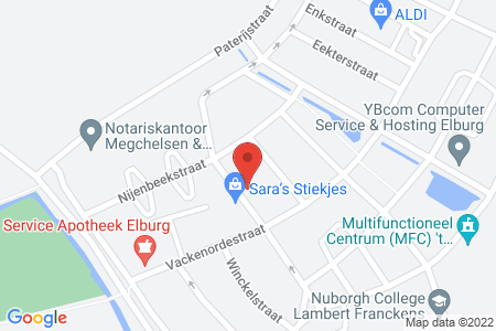 Kaart behorende bij: Passestraat 32, 8081 VK Elburg