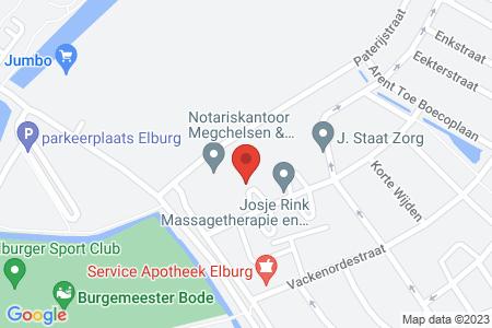Kaart behorende bij: Nijenbeekstraat 9, 8081 TC Elburg