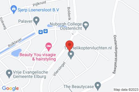 Kaart behorende bij: Vliersingel 24, 8082 CH Elburg