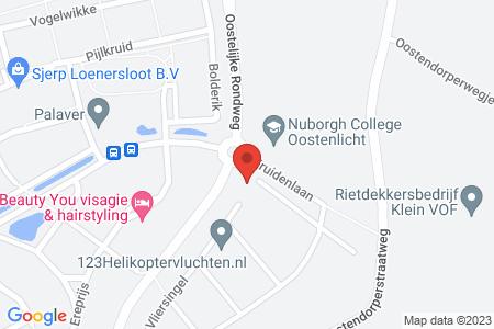 Kaart behorende bij: Marjoleinstraat 25, 8082 CC Elburg